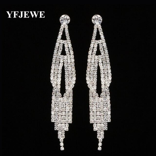Yfjewe New Design Full Crystal Elegant Costume Jewelry Earrings Female Fashion Women Clic Accessories Dangle