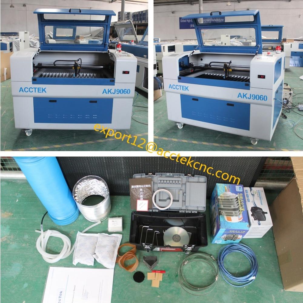 New ! AKJ6090 laser cnc machine wood laser engraver laser engraving machine for sale
