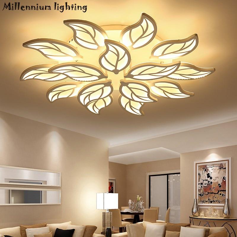 Modern living room ceiling lighting Acrylic bedroom Restaurant chandelier ceiling indoor home fixtures white AC90-260V QianXia
