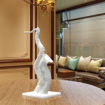 Escultura Decorativa Para Dormitorio Sala Deformado Saxofon 3d - Escultura-decorativa