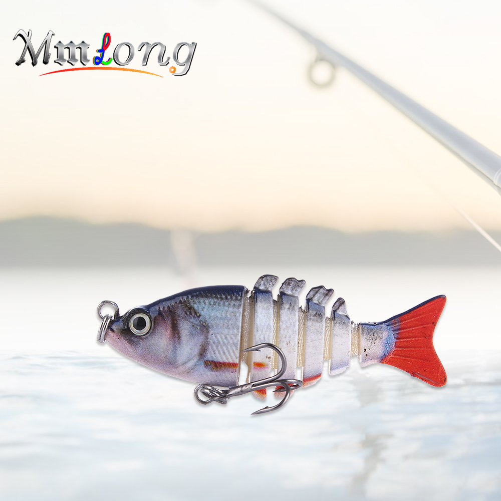 Mmlong 5cm Artificial River Fishing Lure Wobblers AL13 Lifelike 6 Segments Big Swimbait Lipless Sinking Hard Bait Fish Tackle цена и фото