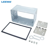 LEEWA Car Stereo Audio 2DIN Metal Cage Fascias Frame Brackets/Screws/Keys For Volkswagen Series Jetta Chico Golf Bora/Polo/MK4