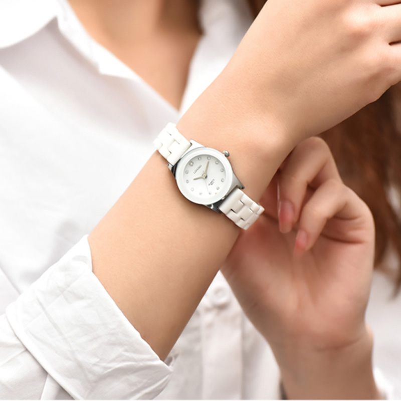 f513c482dd7 LONGBO Lover s Ceramic Rhineston Quartz Watches Women Mens Watches Top  Brand Luxury Casual Watch Relogio Masculino Feminino