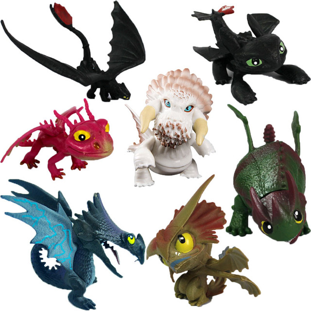 7pcs lot anime how to train your dragon cartoon figure toys night