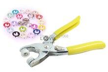200 компл. 9.5 ММ полые цвет пряжки металлические кнопки оснастки с пятью когтями 20 цвет + установка инструменты-плоскогубцы