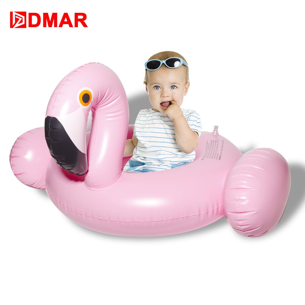DMAR Inflatable Flamingo Swimming Ring Baby Float Pool Toys for Kids Inflatable Mattress Beach Sea Pool Party Unicorn Donut
