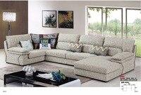 LDM1803A современный в простом стиле гостиная мебель секционный диван комплект u образный ткань мягкая удобный диван
