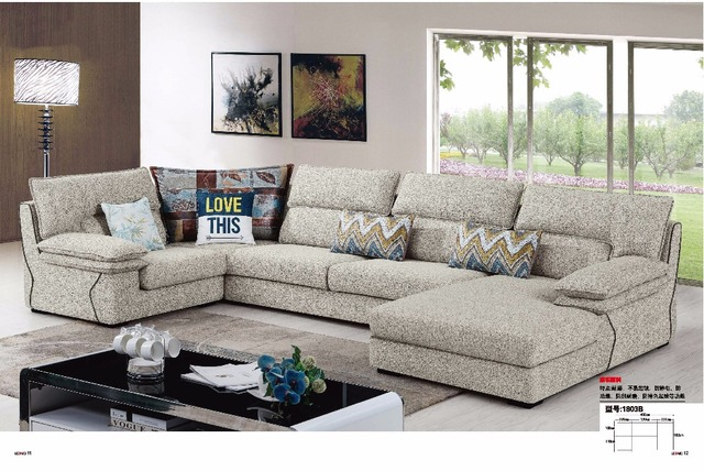 LDM1803A Modern simple style living room furniture sectional sofa ...