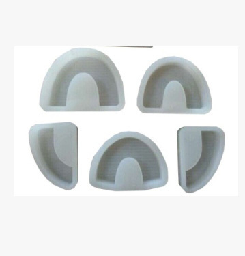 5Pcs Dental Lab silicone Model Base Moulds with Tongue Dental Lab on Stone Model Work as shown in the photo