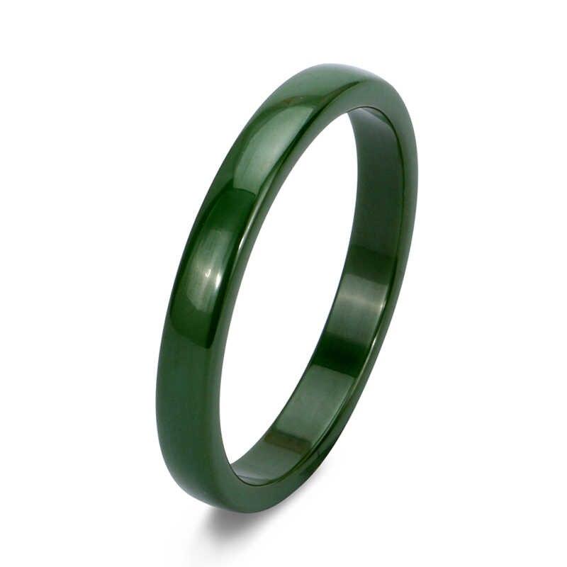 """2 מ""""מ 3 מ""""מ 6 מ""""מ טבעות קרמיקה אור ירוק שחור ורוד אפור צבע סגול כחול חלק תכשיטי קרמיקה טבעות למעלה איכות נשים טבעת"""