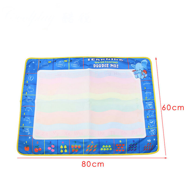 New 80X60cm Water Drawing Painting Writing Mat Board With Magic Pen Doodle Toy Kids Children Gift Brinquedos Educativos Lowest