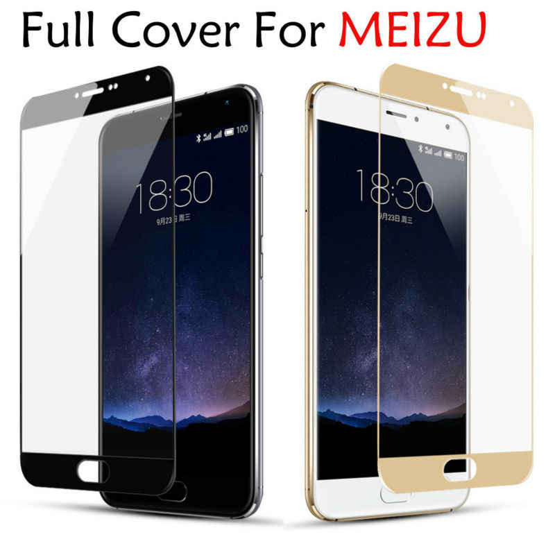 GerTong Full Cover Tempered Glass for MEIZU M3S M5 Note M6 Note 9 Screen Protector for Meizu 16 th 16th 16X M6S M3 Note M8C 16S