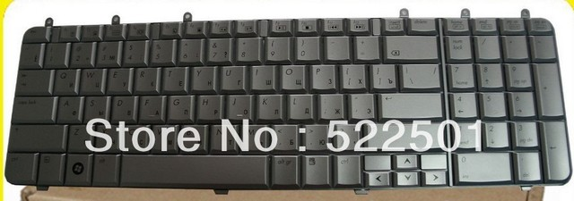 hot sale for HP Pavilion DV7 dv7-1100 dv7-1000 DV7-1200 DV7-1300 Russian  layout notebook laptop silver keyboard free shipping