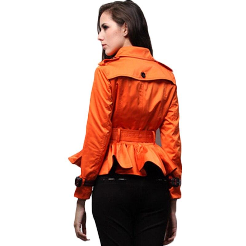 Double Femmes Avec Aishgwbsj Nouveau Boutonnage Ceinture Orange Femelle Haute Pour Courte 2018 Ruche Mince Manteau khaki Tranchée Survêtement Pl223 gqq8wSEnF