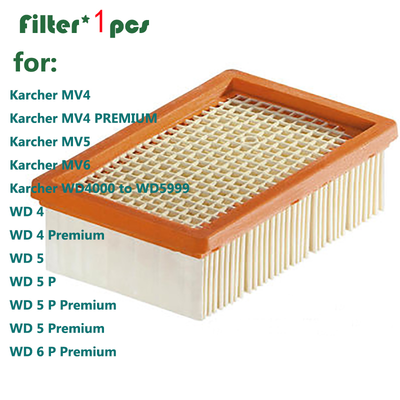 1pcs KARCHER Filter for KARCHER MV4 MV5 MV6 WD4 WD5 WD6 wet&dry Vacuum Cleaner replacement Parts#2.863-005.0 hepa filters