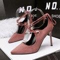 Hottest Camurça Pontas Do Dedo Do Pé das Mulheres Bombas Sexy 2017 Mulheres 10 cm Sapatos de Salto Alto Moda Feminina Sapatos de Salto Alto