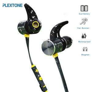 Image 1 - Dual סוללה יותר חיים Bx343 אלחוטי Bluetooth אוזניות מתקפל אוזניות סטריאו אודיו IPX5 מים אוזניות Oreillette עם מיקרופון