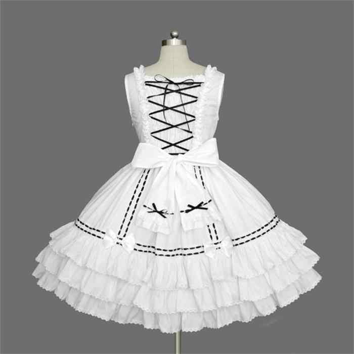 ファッションかわいい黒、白ロリータドレスパフォーマンスステージ衣装で日本船員少女漫画ハロウィンコスプレ