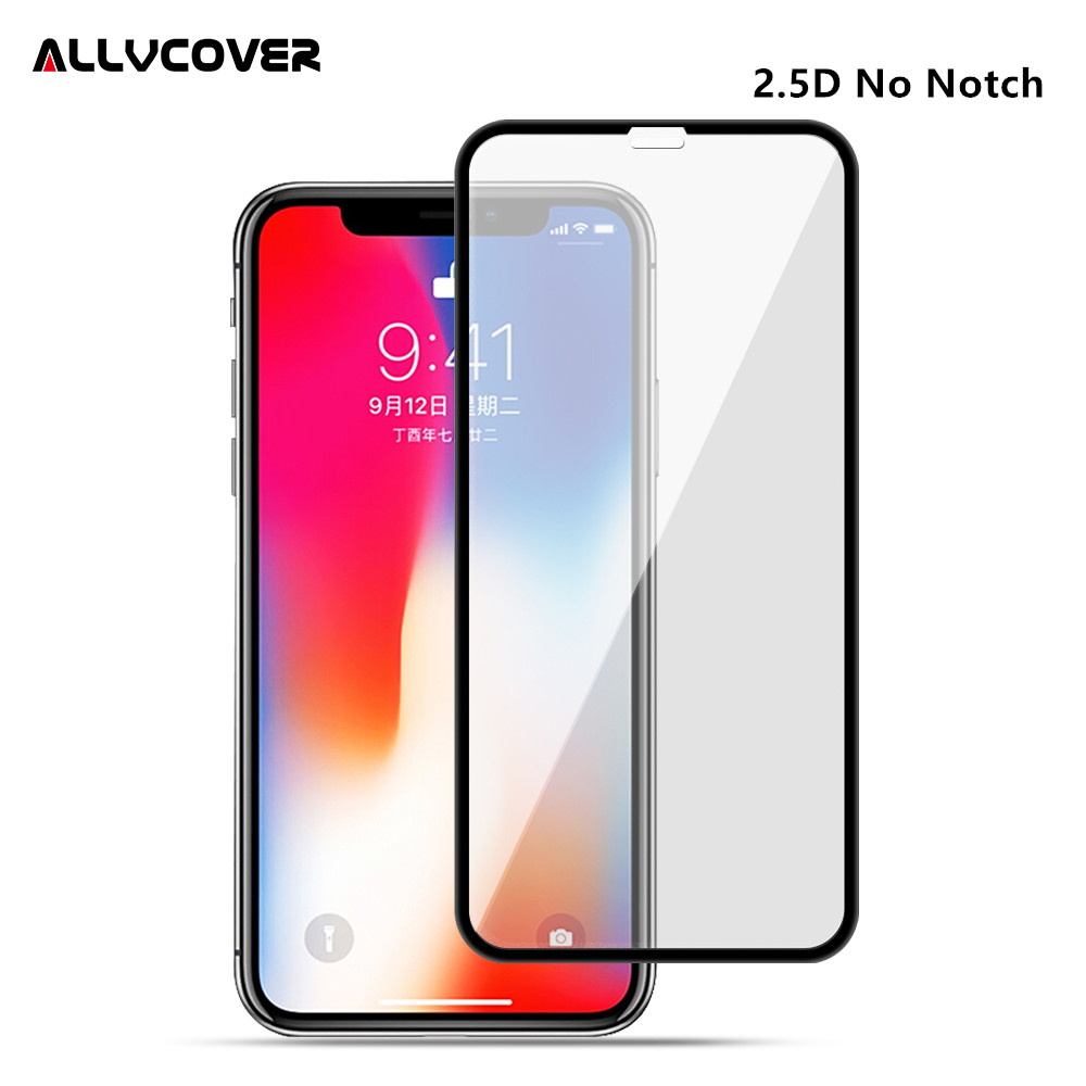 brand new e31f0 ddb61 Allvcover 2.5D Without Notch Tempered Glass For iPhone X Screen ...