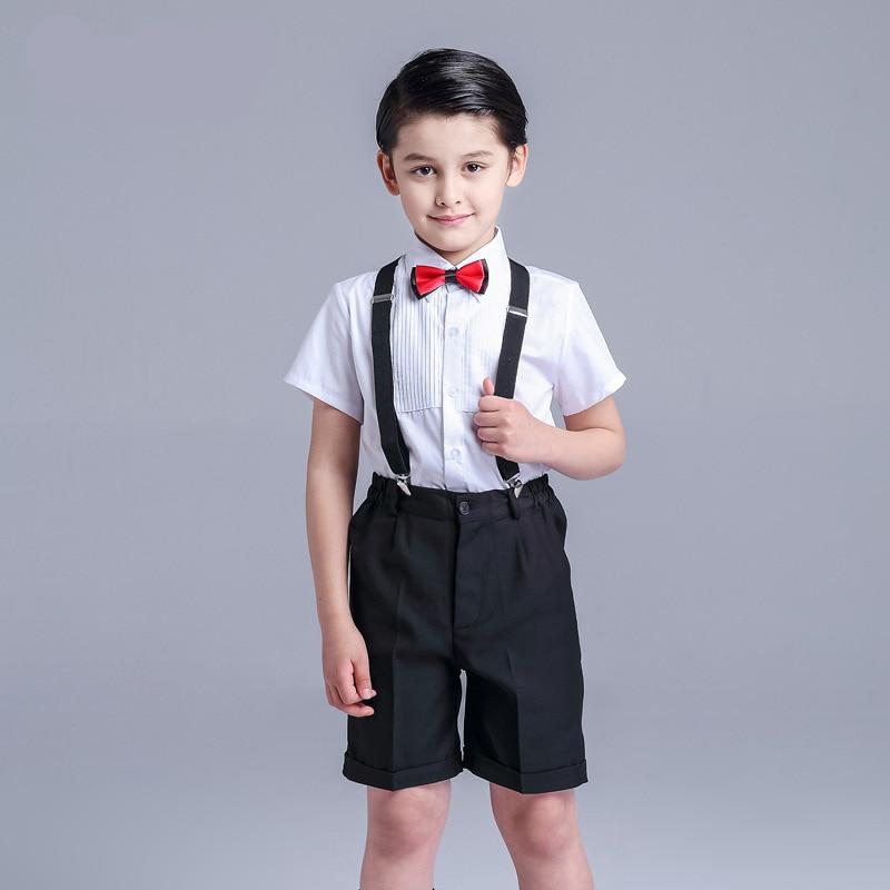 ФОТО Flower girl dress male summer boy dress out school children  dress black trousers gentleman dress skirt