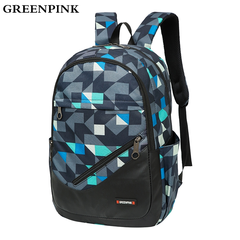 GREENPINK Quality Nylon Backpack Men Fashion Boy Backpacks for Teenage Girls School Bags Unisex Travel Laptop Backpack Women Bag дефлекторы окон autofamily sim chevrolet aveo т255 sd 2003 2011 zaz vida sed 2011 комплект 4шт nld schaves0332