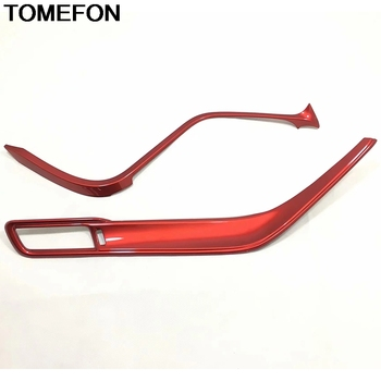 TOMEFON For Toyota Camry XV70 2017 2018 2019 LHD Central Console Decoration Strip Cover Trim Moulding Interior Accessories ABS