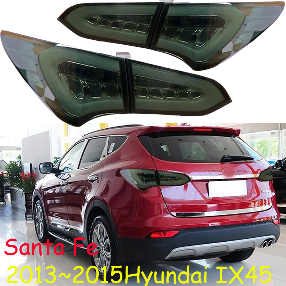Car tail lights for taillight Santa FE IX45 2013~2015 <font><b>LED</b></font> ix 45 Tail Light <font><b>accent</b></font> Rear Lamp DRL+Brake+Park+Moving Turning Lamp image