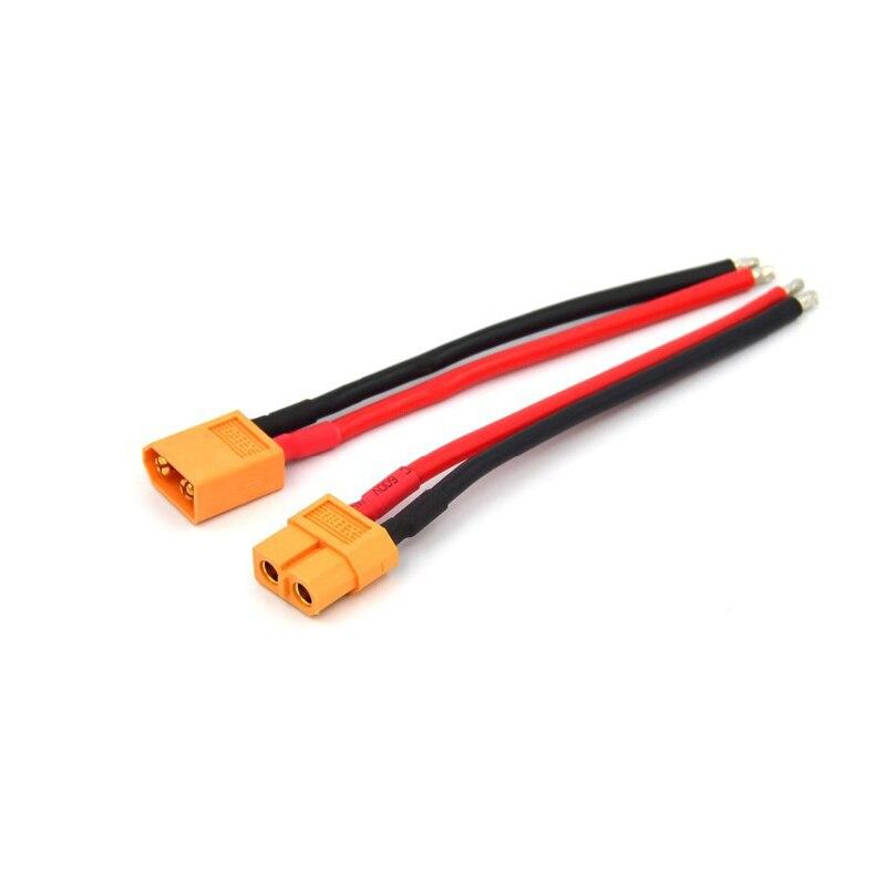 XT60 соединитель мужской/женский с корпусом 10 см силиконовый провод 14AWG