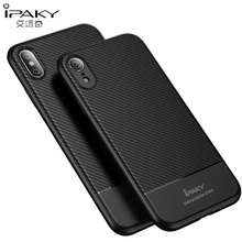 IPAKY Shockproof Silicone Carbon Fiber Case For Iphone XS X Max XR Luxury Anti Knock Protective Cover Fundas For Iphone XS Cases