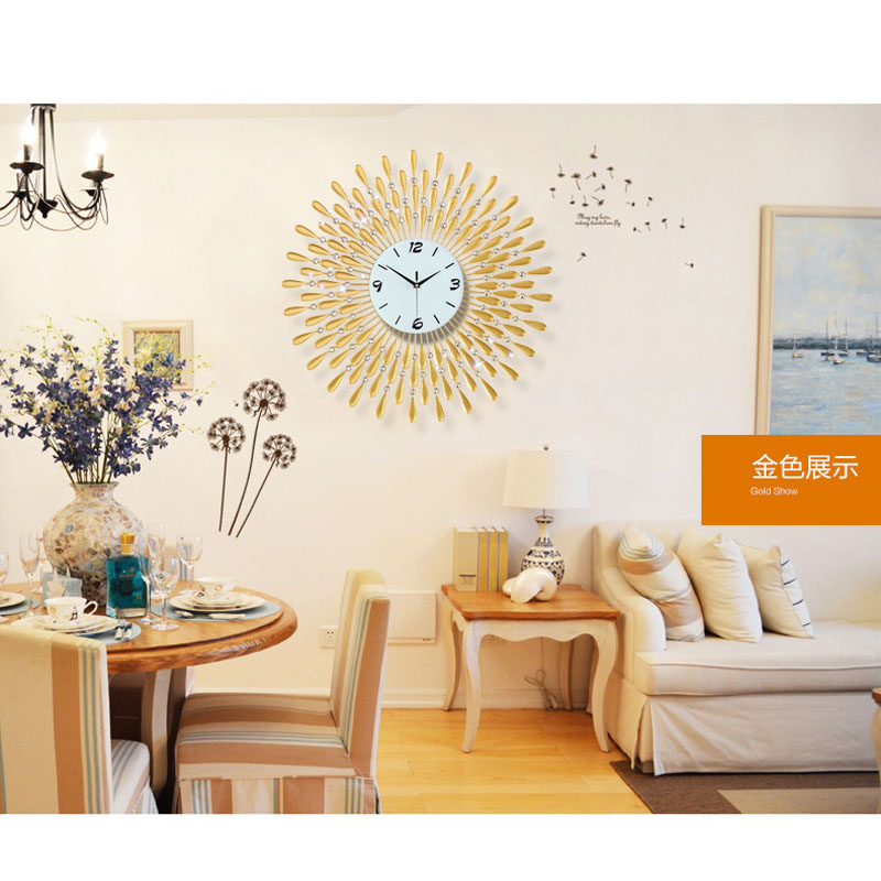 Large Wall Clock Saat Reloj Diamond Clock Relogio De