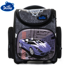 Delune New 3D School Bags For Boys Girls Car Backpack Folded Children Orthopedic Backpacks Primary Book Mochila Infantil