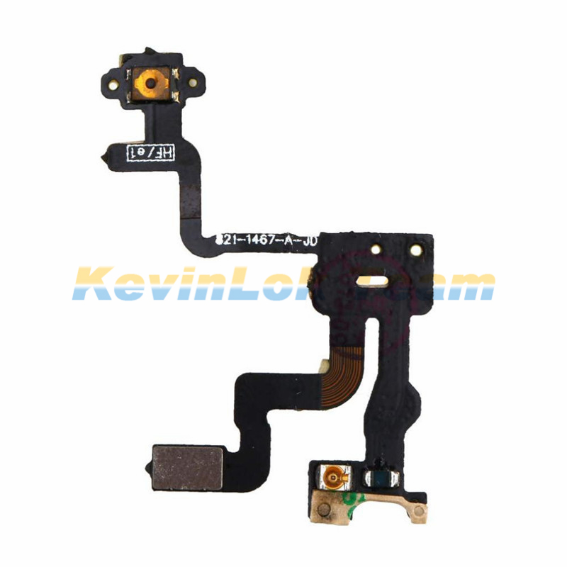 Hot Original High Quality Power Button Flex Cable Ribbon Light Sensor For iPhone 4S 4GS Power Switch On / Off Replacement Parts