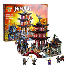 2150pcs LEPIN 06022 Ninjagot Set Temple of Airjitzu Lloyd Ninja Building Bricks Blocks Mini figures Toys Compatible 70751