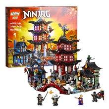 2150pcs LEPIN 06022 Ninjagot Set Temple of Airjitzu Lloyd Ninja Building Bricks Blocks Mini figures Toys Compatible 70751