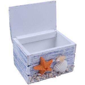 Image 5 - Mini deniz ahşap korsan hazine mücevher saklama dolabı zanaat kutusu kasa organizatör