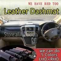 For Toyota Alphard Vellfire AH10 2002-2008 Leather Dashmat Dashboard Cover Dash Mat SunShade Carpet Custom Car Styling LHD+RHD