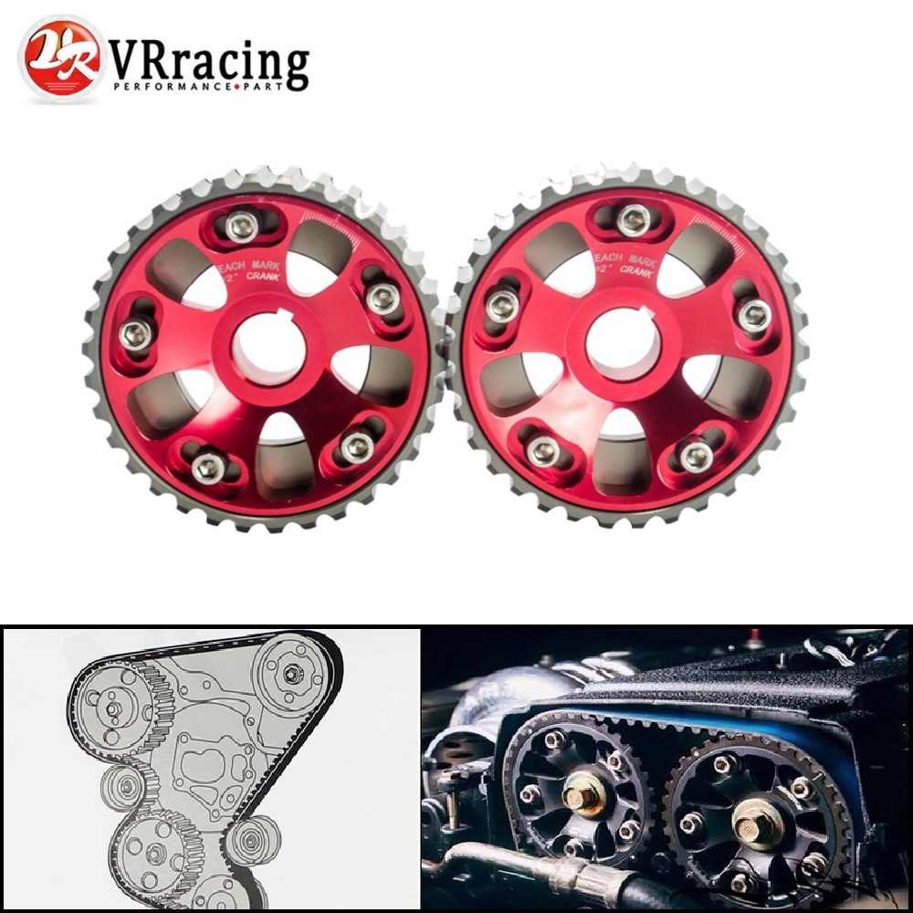 VR RACING - Adjustable DOHC Cam Gears Alloy Timing Gear Red For Honda Civic B16A B16B  VR6532R