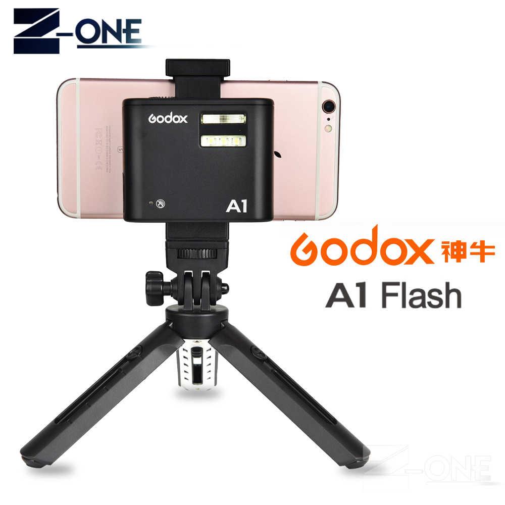 3896439f3eeeb Pro Godox A1 flash для смартфонов с 2.4 г Беспроводной Системы TTL  Bluetooth триггер с Батарея