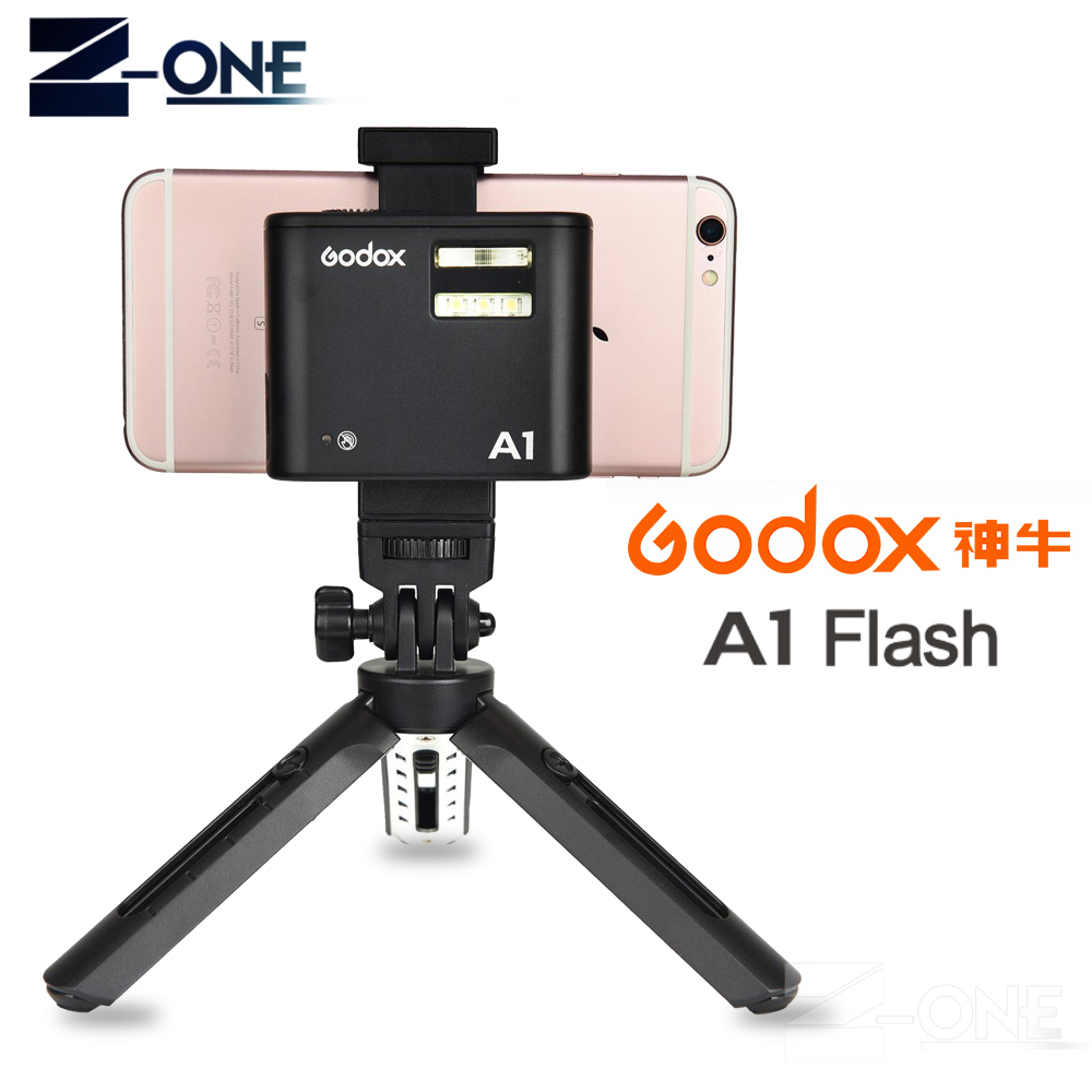 Pro Godox A1 Flash for Smartphone with 2.4G Wireless System TTL Bluetooth Trigger with Battery for iPhone 8 X7 6S Plus ios цена