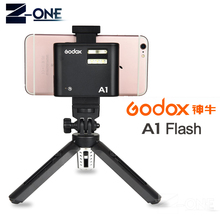 Pro Godox A1 Flash for Smartphone with 2.4G Wireless System TTL Bluetooth Trigger with Battery for iPhone 8 X7 6S Plus ios