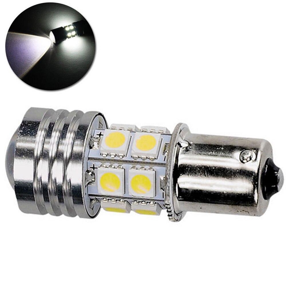 4 Pcs 1156 BA15S 10W LED Car Light Bulb White 6000K 12V 12 LEDs 5050 SMD Bulbs Parking Tail Backup Lamp Reverse Reversing Lights in Signal Lamp from Automobiles Motorcycles