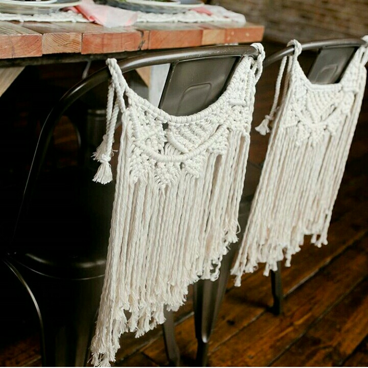 1 piece Handmade Macrame Chair Decorations European style Room Decor