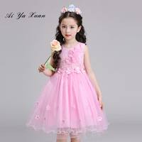 AiYaxuan Children Kids Prom Gown Designs Little Baby Kids Party Frocks Flower Girl Sequin Tulle Wedding