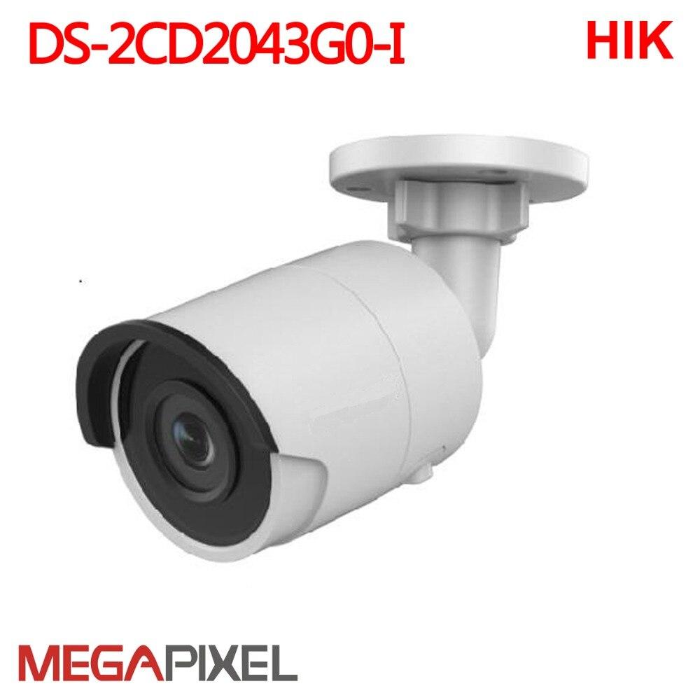 Hikvision 4 m ip caméra Ir bullet DS-2CD2043G0-I cctv Vidéo Surveillance sécurité Easyip2.0plus Caméscope accueil protection Cam