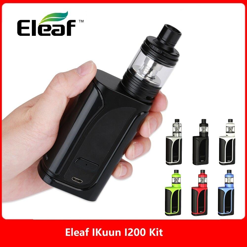 Original 200 W Eleaf IKuun I200/ikuu i200 Vape Kit w/MELO 4 Zerstäuber 4,5 ml & 4600 mAh Batterie Box Mod e cig vs Drag 2/Luxe Kit