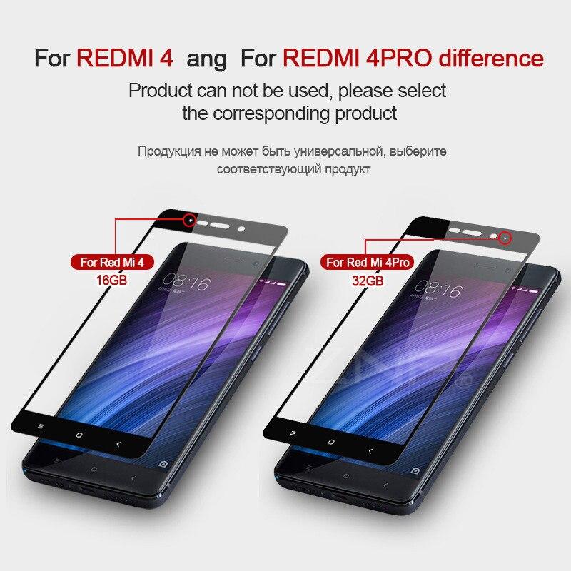 ZNP Tempered Glass For Xiaomi Redmi 4 4 Pro 4X 4 Prime Redmi Note 4 Pro Note 4X Screen Protector Toughened Full Cover Film