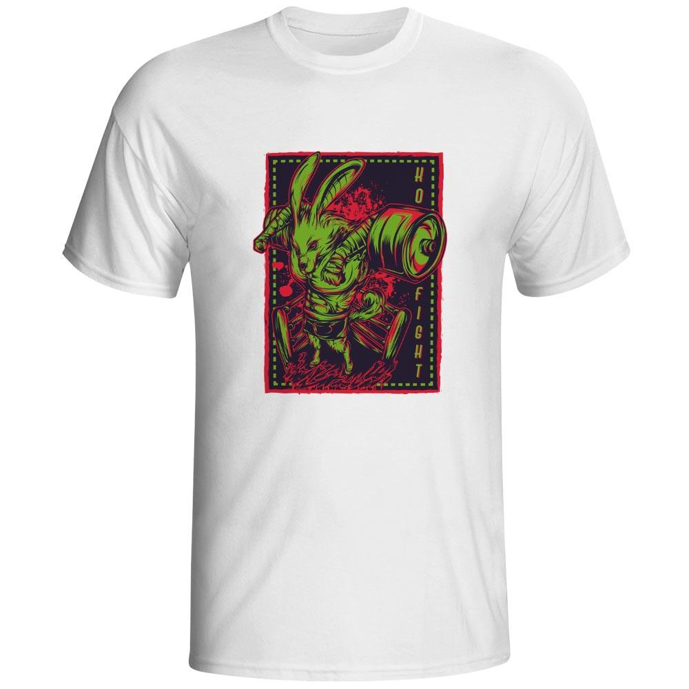 Almighty Boxer T Shirt Rabbit Cool Novelty Casual T-shirt Pop Creative Hip Hop Unisex Tee