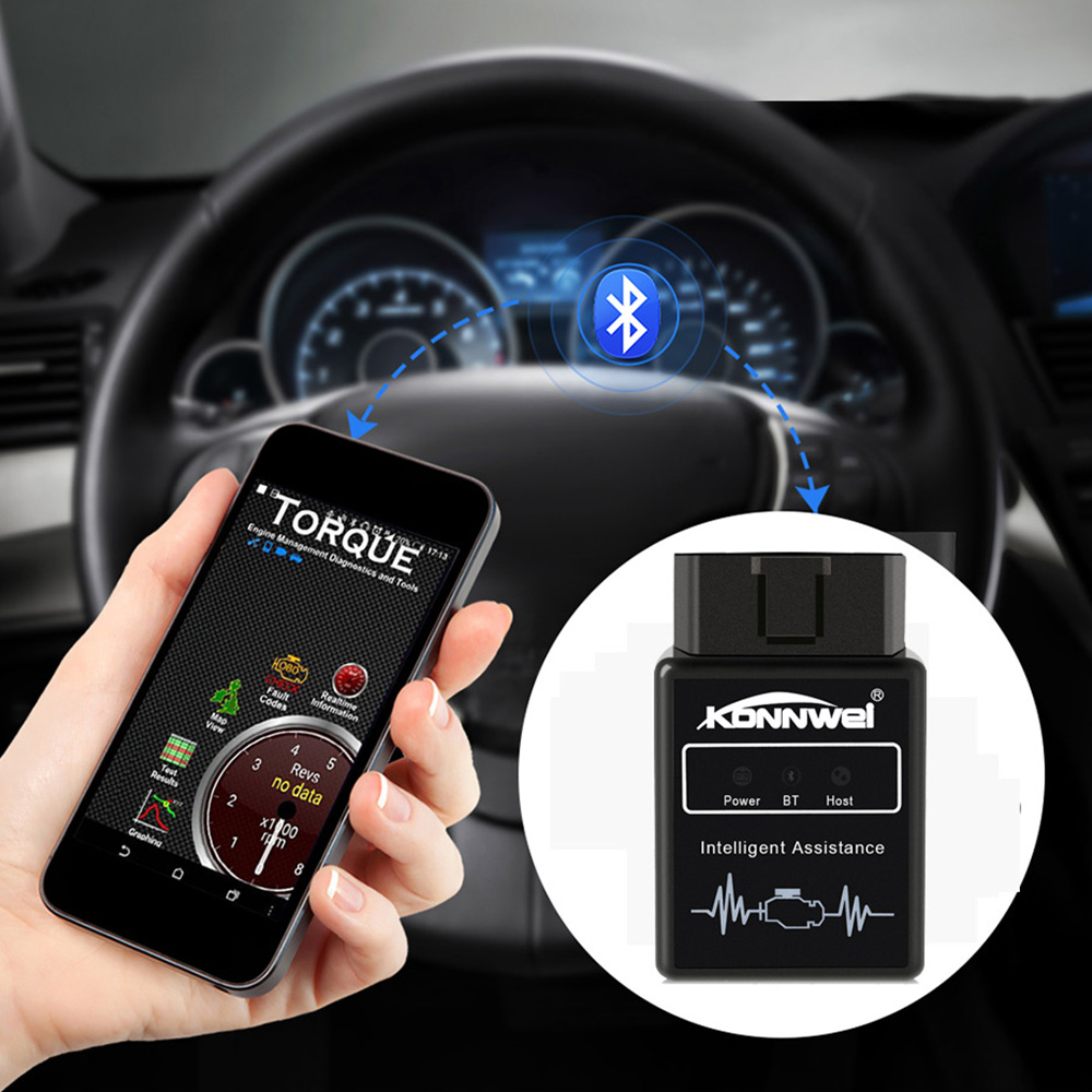 <font><b>ELM327</b></font> <font><b>Bluetooth</b></font> <font><b>V1.5</b></font> <font><b>OBD2</b></font> Scanner <font><b>Adapter</b></font> KW912 Code Reader <font><b>Scan</b></font> Tool <font><b>Automotive</b></font> Engine Fault <font><b>Scan</b></font> Diagnostic Tool for Android image
