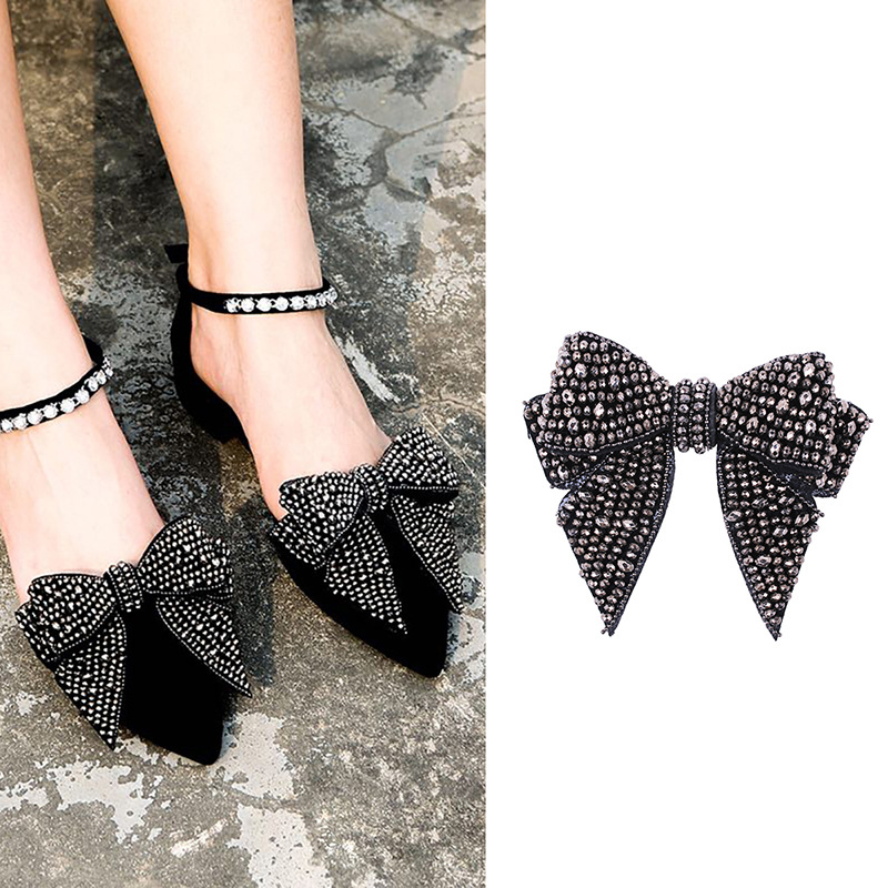 Bowknot Crystal Decorations Shoes Clips Wedding Party Shoes Accessories Women Elegant Shoes Rhinstones Ornament Shoe Decorations
