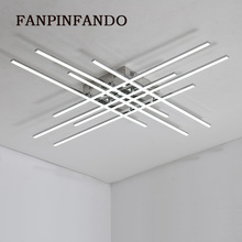 Moderne Led lustres lumière Chrome placage métal salle à manger pendentif Led lustre lumières salon suspendus luminaires